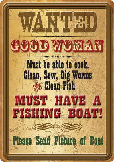 Wanted Good Woman Tin Sign